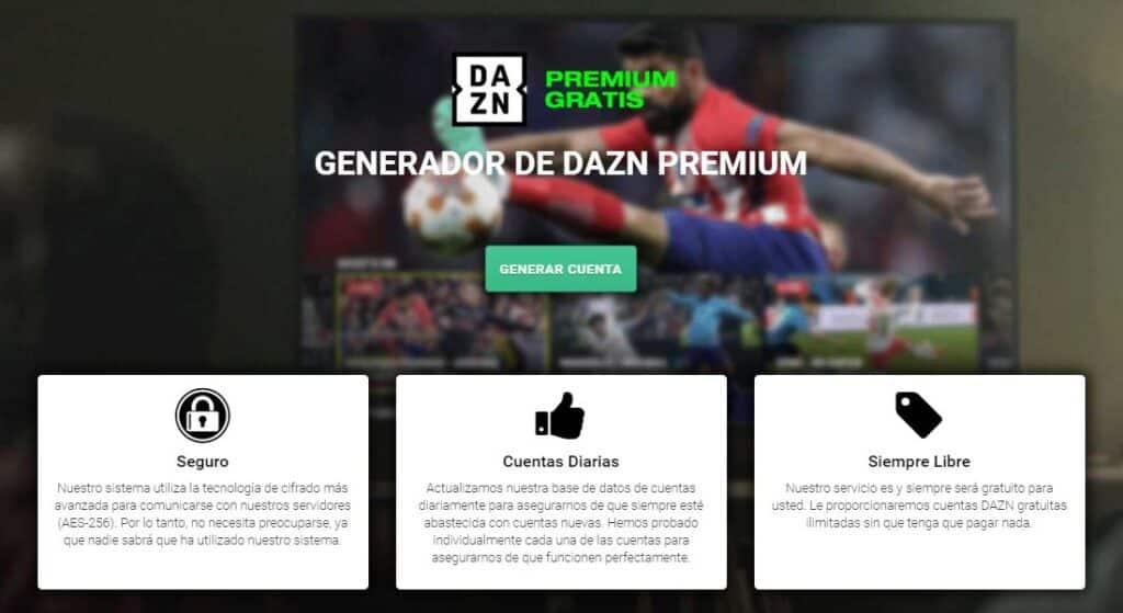 generador cuentas dazn gratis 2020